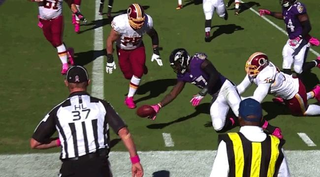 C.J. Mosley fumble turns potential pick-six into touchback