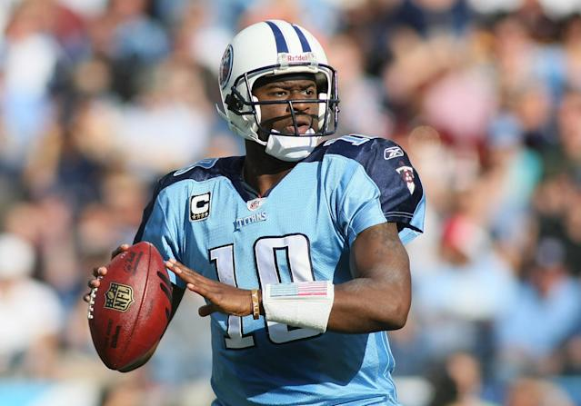Former Titans quarterback Vince Young was arrested for DWI on Monday in Texas. (Greg McWilliams/Getty Images)