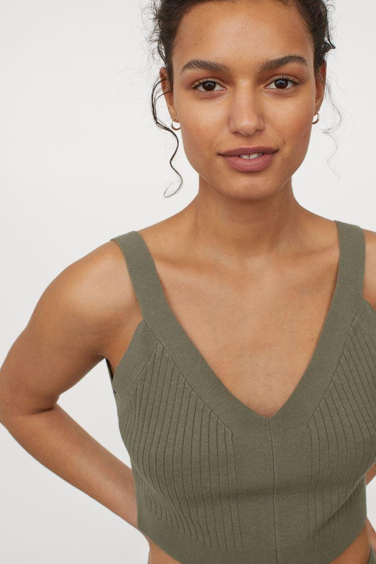 <p>This <span>Rib-knit Crop Top</span> ($18) will look great with your favorite denim jeans.</p>