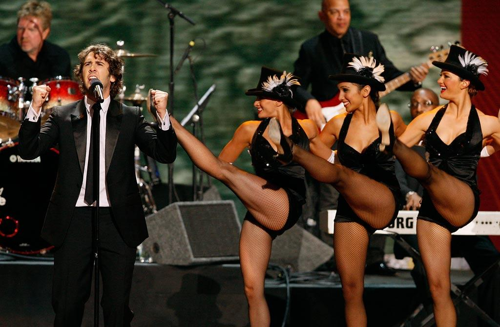 """During one of the most fun moments of the show, Josh Groban performed a medley of TV theme songs. Our favorites were his covers of """"South Park"""" and """"The Fresh Prince of Bel-Air."""""""