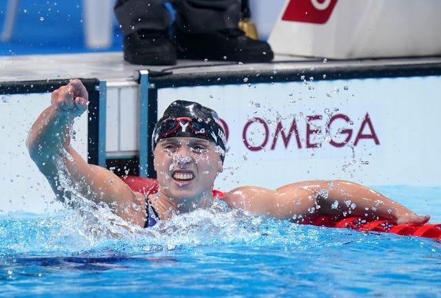 Katie Ledecky won gold in the women's 1500m freestyle (Adam Davy/PA)