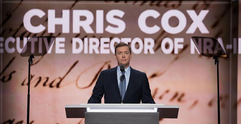 Chris Cox of the NRA speaks at the Republican National Convention in Cleveland, Ohio on July 19, 2016.
