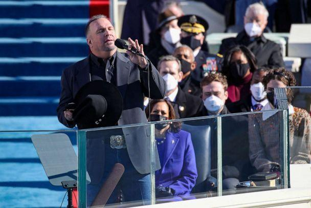 PHOTO: Garth Brooks performs at the inauguration of President Joe Biden on the West Front of the U.S. Capitol on Jan. 20, 2021, in Washington, D.C. (Rob Carr/Getty Images)