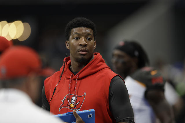 "Addressing an allegation that he groped an Uber driver last year, Bucs QB Jameis Winston said he has ""no fear"" of being suspended by the NFL. (AP)"