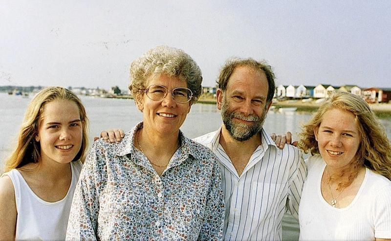Diana Maddock with her first husband Bob and family - Solent News and Photo Agency
