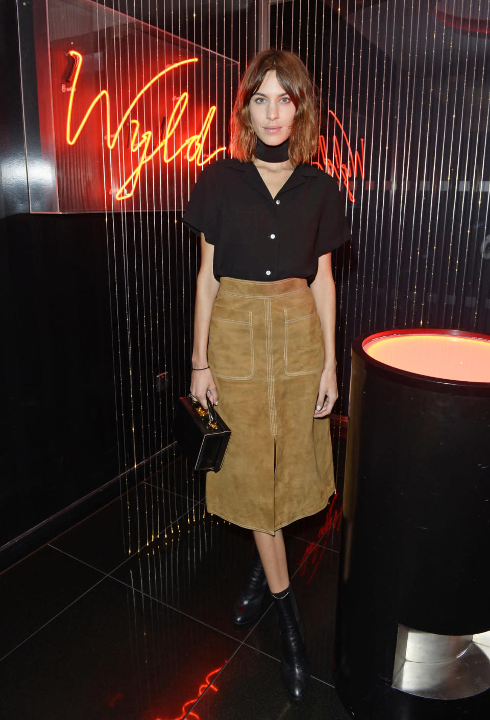 <p>The street style icon was seen earlier this year looking simply divine in a high-waisted suede skirt while attending an event in Beijing, China.</p>