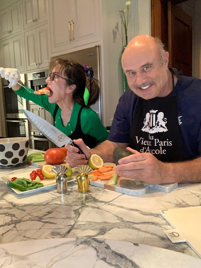 Dr. Phil shared a photo from his kitchen.