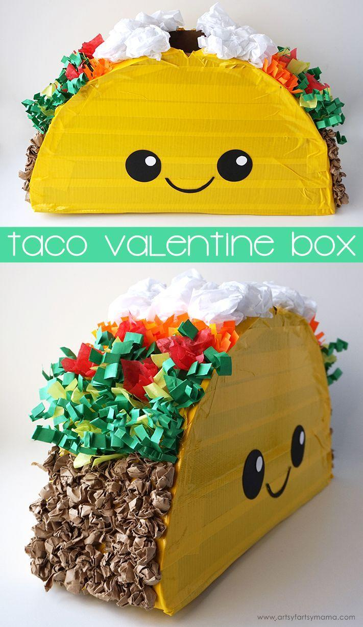 """<p>The only thing your kid loves more than candy is a plate full of tacos. With this easy-to-make box, they'll get the best of both worlds. </p><p><em><a href=""""https://www.artsyfartsymama.com/2018/02/taco-valentine-card-box.html"""" rel=""""nofollow noopener"""" target=""""_blank"""" data-ylk=""""slk:Get the tutorial at Artsy-Fartsy Mama »"""" class=""""link rapid-noclick-resp"""">Get the tutorial at Artsy-Fartsy Mama »</a></em></p>"""