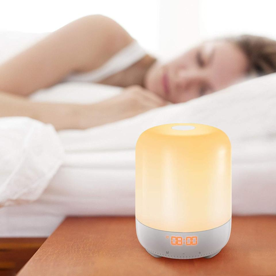"""<h3><a href=""""https://amzn.to/2MLQ5Om"""" rel=""""nofollow noopener"""" target=""""_blank"""" data-ylk=""""slk:Amir Touch Control Wake-Up Light"""" class=""""link rapid-noclick-resp"""">Amir Touch Control Wake-Up Light</a></h3><br>This little gadget gradually brightens, radiating a warm ambient light inside your space 30 minutes prior to an alarm of your selection sounding — and all you need to do in order to shut the process off is gently tap its top. <br><br><strong>Amir</strong> Touch Control Wake-Up Light, $, available at <a href=""""https://amzn.to/2MLQ5Om"""" rel=""""nofollow noopener"""" target=""""_blank"""" data-ylk=""""slk:Amazon"""" class=""""link rapid-noclick-resp"""">Amazon</a>"""