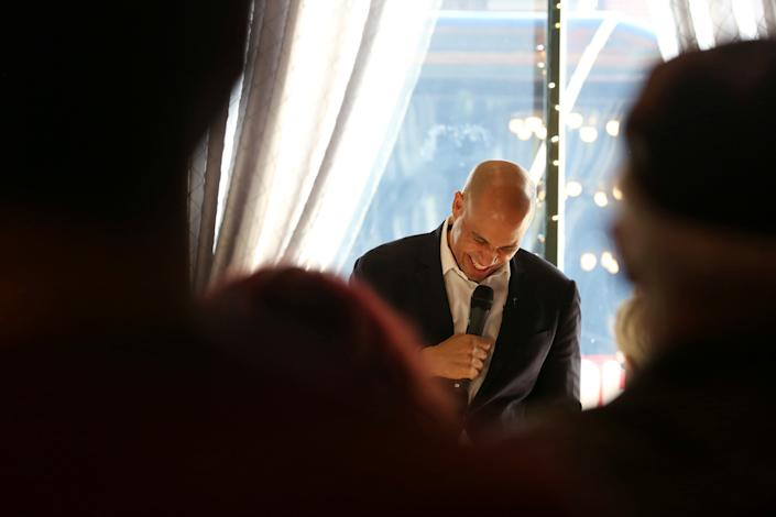 Democratic U.S. presidential candidate Senator Cory Booker speaks during an event as part of his bus tour in Fort Dodge, Iowa, U.S. December 20, 2019.  REUTERS/Brenna Norman