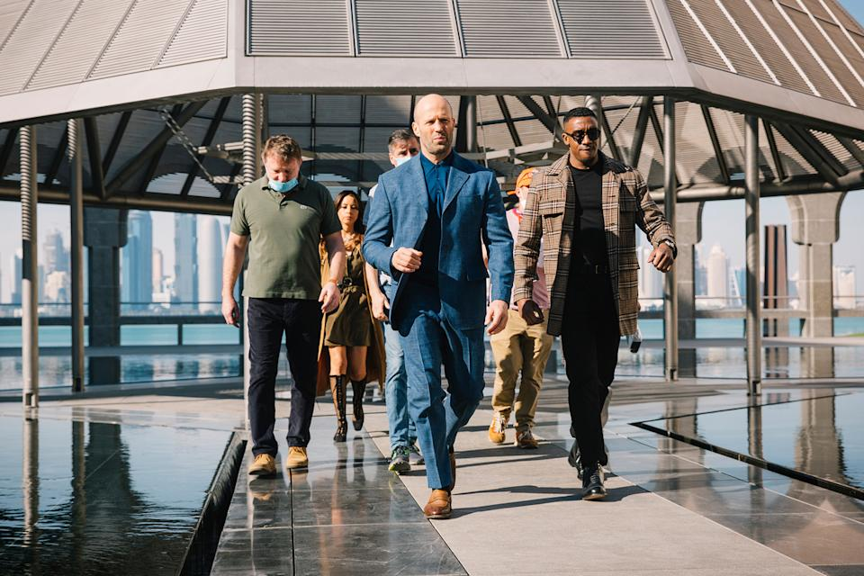 Guy Ritchie, Jason Statham and Bugzy Malone in Doha (Julien Scussel & QNTC)