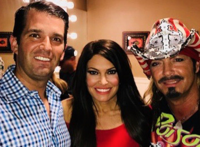 Donald Trump Jr., Kimberly Guilfoyle, and Bret Michaels. (Photo: Instagram/Courtesy of Donald Trump Jr.)