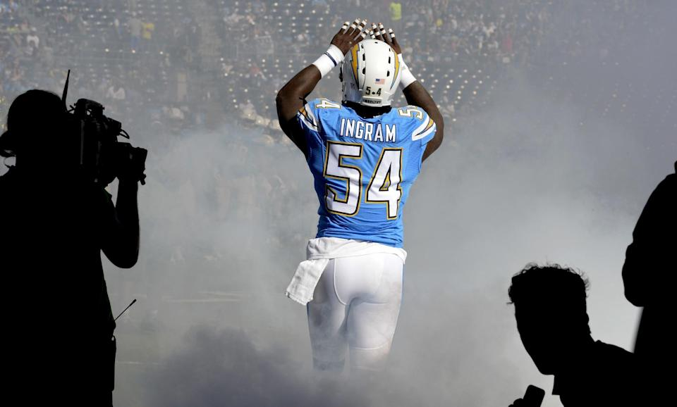 The Los Angeles Chargers have placed the franchise tag on pass rusher Melvin Ingram. (AP)