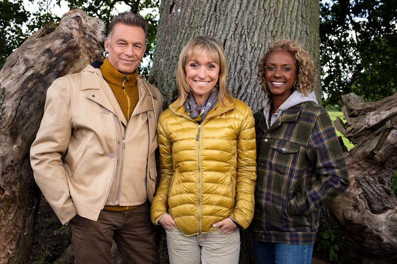 Chris Packham, Michaela Strachan, Gillian Burke host 'Springwatch' (Credit: BBC)