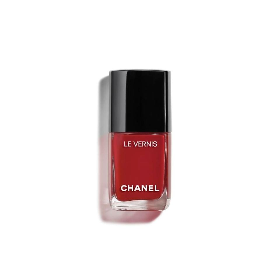 "I love red nails all year—they make me feel put-together and Old Hollywood, even though my nails are stubs—but it feels even more appropriate for this time of year. This is the perfect red-carpet red that's a bit deeper than my usual cherry without verging into wine territory, which is a whole other category in my mind. Chanel polishes are worth every cent—each use feels like a little gift to yourself—and they last for a week without chipping. <em>—Bella Cacciatore, beauty associate</em> $28, Chanel Le Vernis Longwear Nail Color in Richness. <a href=""https://www.chanel.com/en_WW/fragrance-beauty/makeup/p/nails/nail-colour/le-vernis-longwear-nail-colour-p159500.html#skuid-0159719"">Get it now!</a>"