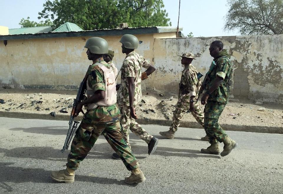 Nigerian soldiers in Yobe state, one of the worst-hit in the country's eight-year Boko Haram Islamist insurgency (AFP Photo/-)
