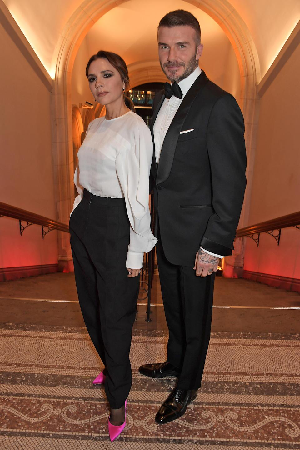 Victoria Beckham and David Beckham attended The Portrait Gala 2019. [Photo: Getty]