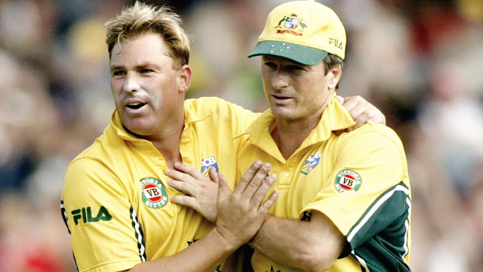 Shane Warne and Steve Waugh, pictured here in action during a one-day international at the MCG.
