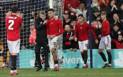 <span>Ole Gunnar Solskjaer fended off questions about chants aimed at Man Utd's owners</span> <span>Credit: Reuters </span>