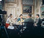<p>Queen Elizabeth, Prince Philip, Prince Charles and Princess Anne are filmed for a BBC documentary, 'Royal Family', which aired in 1969.</p>