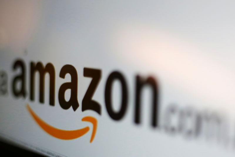 FILE PHOTO - The Amazon logo is pictured in this illustration photo