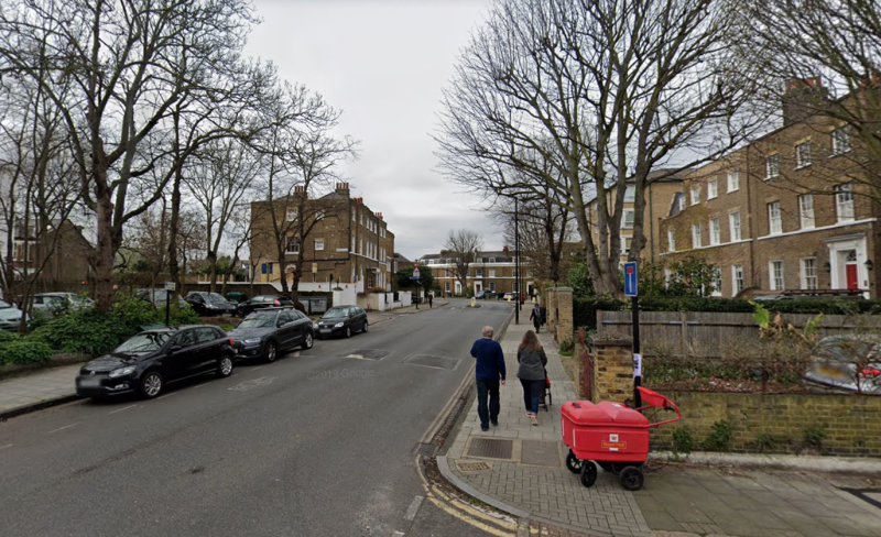 The G4S van was abandoned on Larkhall Rise in Clapham, south London. (Google)