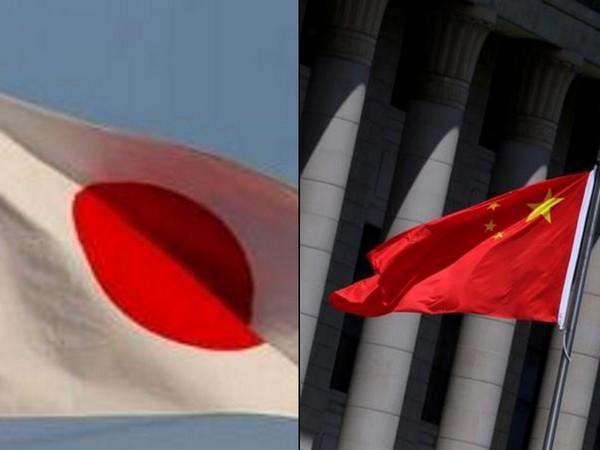 Japan and Chinese flags