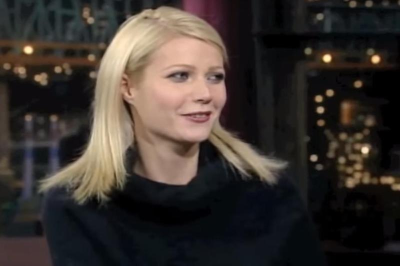 Hinting: Gwyneth Paltrow on The Late Show in 1998