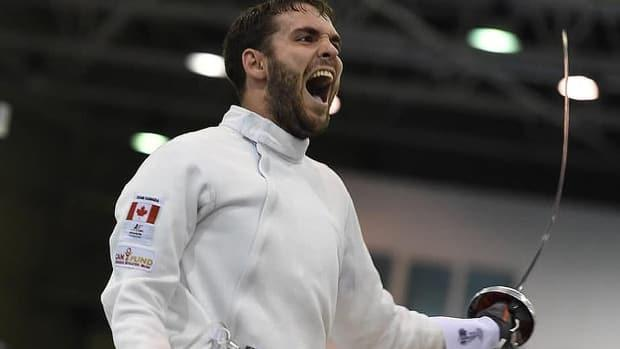 Fencer Marc-Antoine Blais Belanger can now prepare for the Tokyo Olympics after winning the individual men's épée title Saturday at a qualifying event in San José, Costa Rica. (Submitted by Canadian Fencing Federation - image credit)