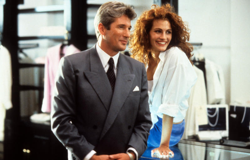 (Hulton Archive via Getty Images (Richard Gere and Julia Roberts in a scene from the film 'Pretty Woman', 1990. (Photo by Buena Vista/Getty Images))