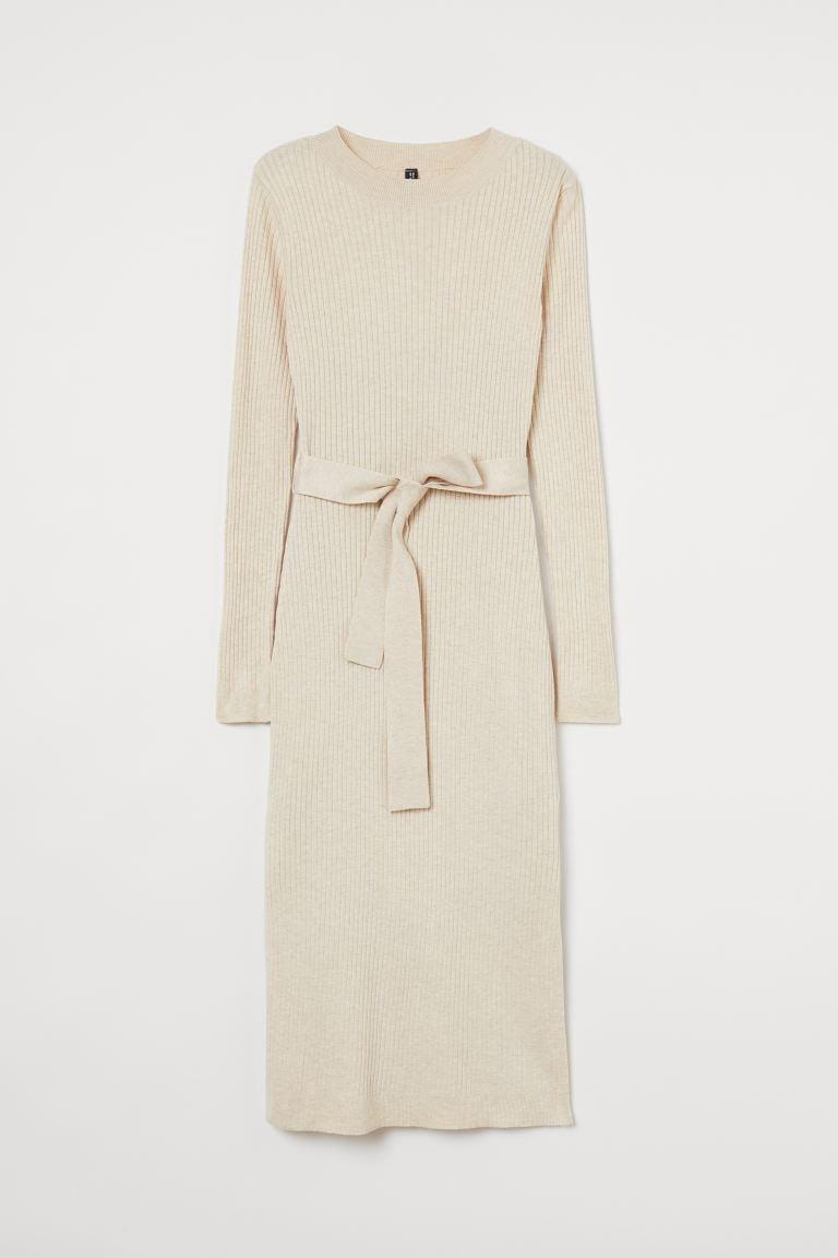 <p>You can't go wrong with this neutral, extremely versatile <span>H&amp;M Rib-knit Dress</span> ($35).</p>