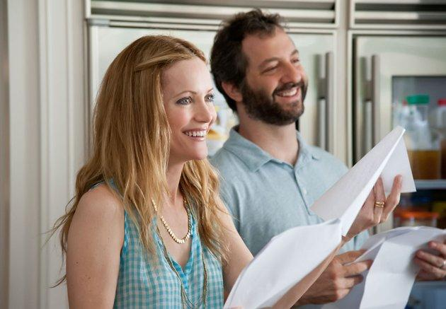 Leslie Mann and Judd Apatow on the set of 'This is 40'