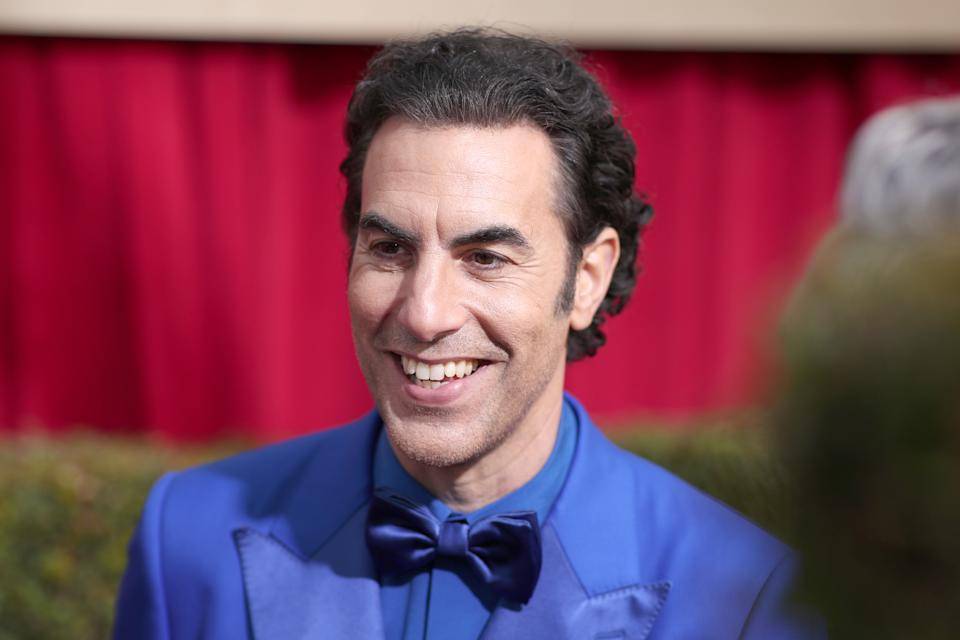 Sacha Baron Cohen arrives to the 77th Annual Golden Globe Awards on January 5, 2020. (Photo by Christopher Polk/NBC/NBCU Photo Bank via Getty Images)