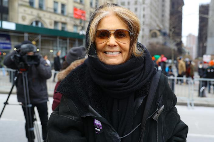 Journalist and social activist Gloria Steinem poses for a photo before speaking at the Women's Unity Rally on Jan. 19, 2019. (Photo: Gordon Donovan/Yahoo News)