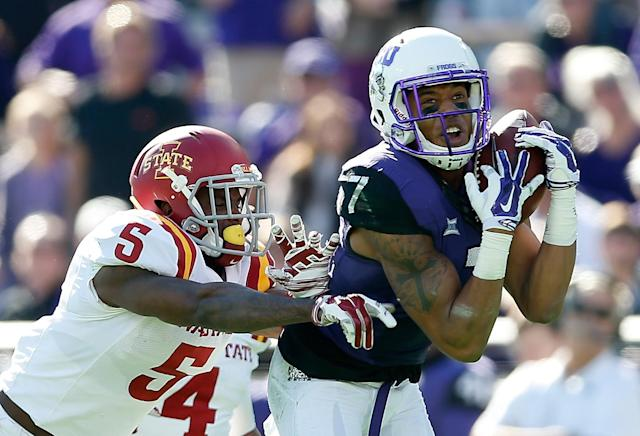 Kolby Listenbee says TCU coaches pressured him to return too quickly from a pelvic injury. (Getty)