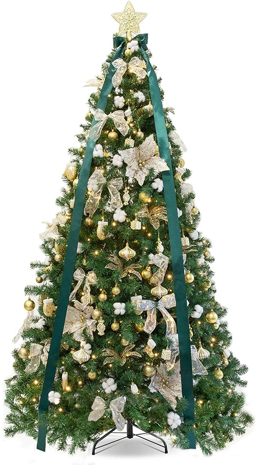 WBHome 6FT Pre-lit Artificial Christmas Tree with Ornaments. (Image via Amazon)