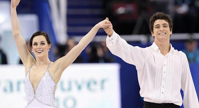 Tessa Virtue and Scott Moir at the 2010 Winter Olympics (Getty Images)