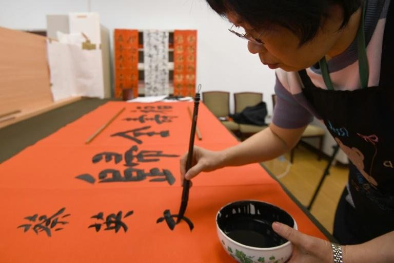Taiwan presidential calligrapher Yang Shu-wan was selected after applying for the position in 2016 when President Tsai Ing-wen came to power