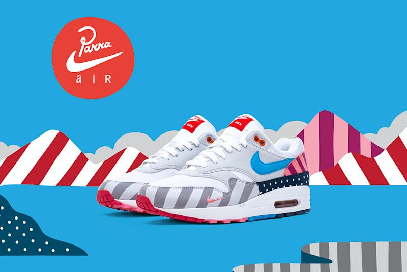 6a07bca67e00 Artist Parra Makes a Comeback to Nike Air Max 1 Collabs With New  Multi-Patterned Colorway