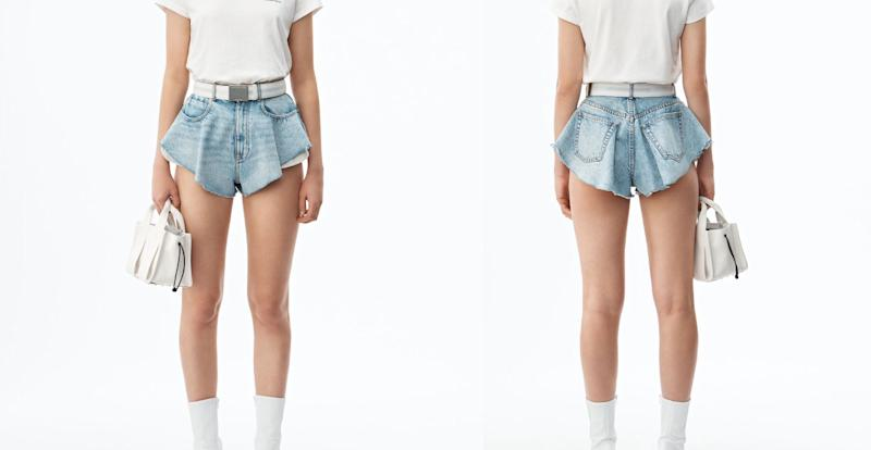 The controversial shorts cost £225. [Photo: Alexander Wang]