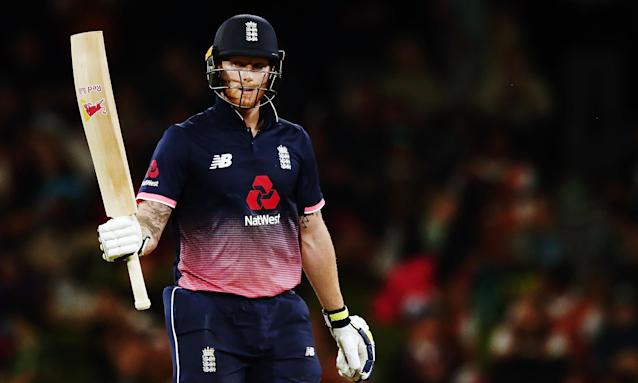 Ben Stokes hit 63 not out and took two wickets as England won with 73 balls to spare.