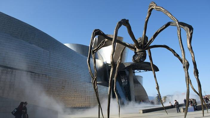 Louise Bourgeois's Maman sculpture on display outside Bilbao's Guggenheim in February