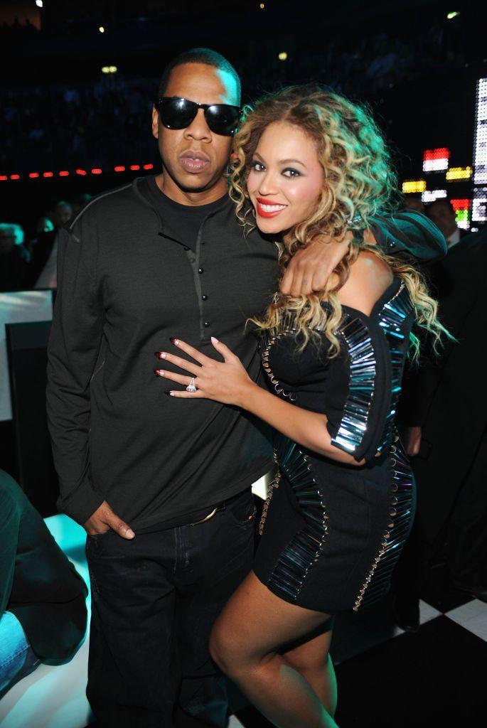 <p>Jay-Z and Beyoncé at the MTV Europe Music Awards in Berlin.</p>