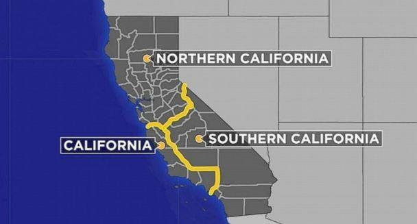 PHOTO: The CAL 3 proposal would split California into three new states: Northern California, California and Southern California. (KABC)