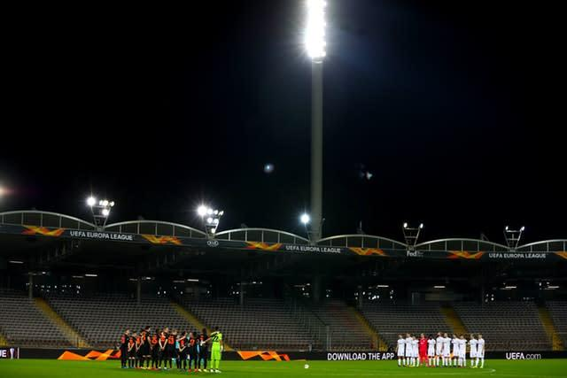 Manchester United faced LASK in front of a restricted crowd last week (Bradley Collyer/PA)