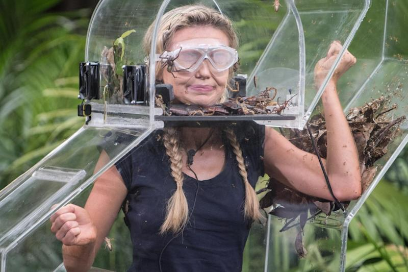 Georgia Toffolo taking part in a Bushtucker Trial on 'I'm a Celebrity... Get Me Out of Here!' (Rex Features)