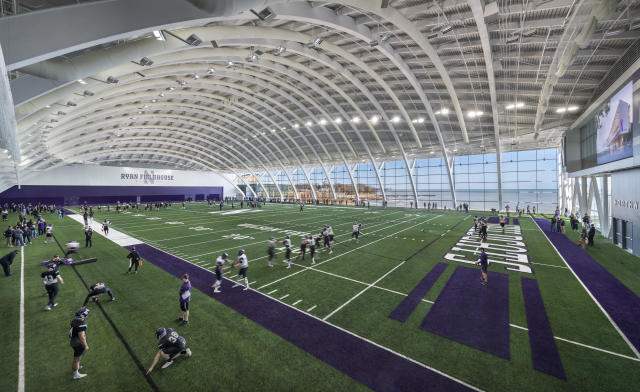 Northwestern's Ryan Fieldhouse and Walter Athletics Center. (Photo credit: Northwestern Athletics)