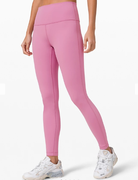 """Wunder Under High-Rise Tight 28"""" Full-On Luxtreme in magenta glow"""