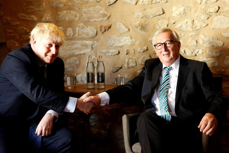 Johnson and Juncker's meeting in Luxembourg ended without a breakthrough (AFP Photo/François WALSCHAERTS)