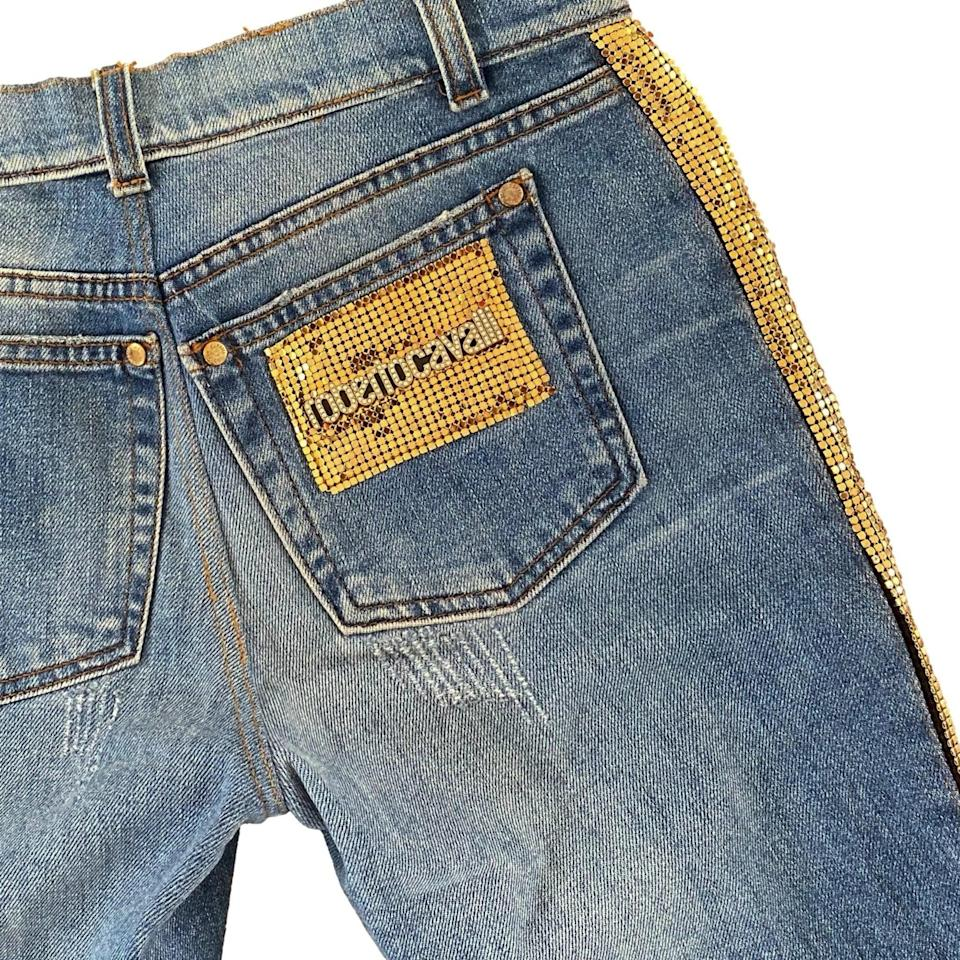 <p>Just try to convince us these <span>Roberto Cavalli Studded Jeans</span> ($390) weren't worn by a celebrity on the red carpet in the early aughts.</p>